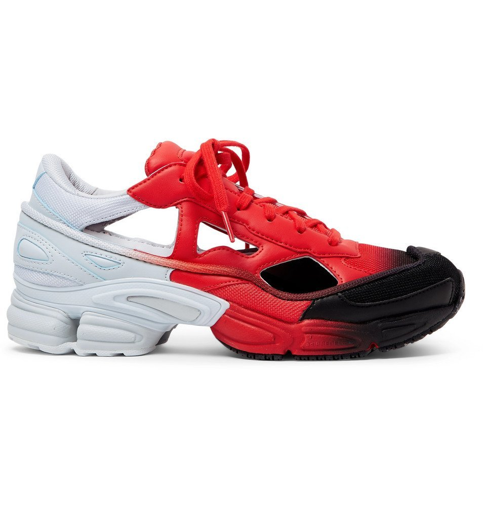 Photo: Raf Simons - adidas Originals Replicant Ozweego Sneakers - Red