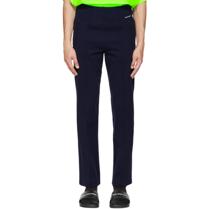 Navy Logo Track Sweatpants Balenciaga For Nice For Sale Pick A Best Cheap Online Big Discount For Sale Best Seller Sale Online AMUQRAIh