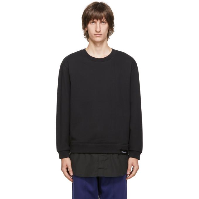 Photo: 3.1 Phillip Lim Black Logo Patch Long Sleeve Sweatshirt