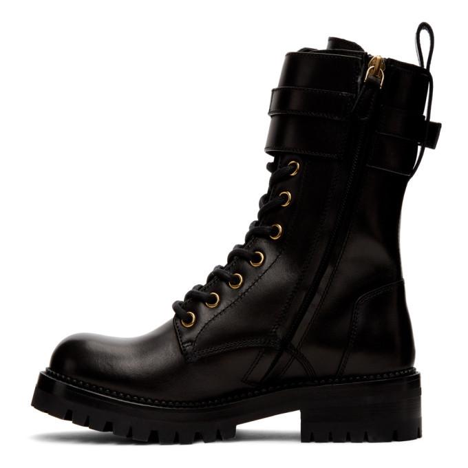 Versace Black Medusa Safety Pin Boots