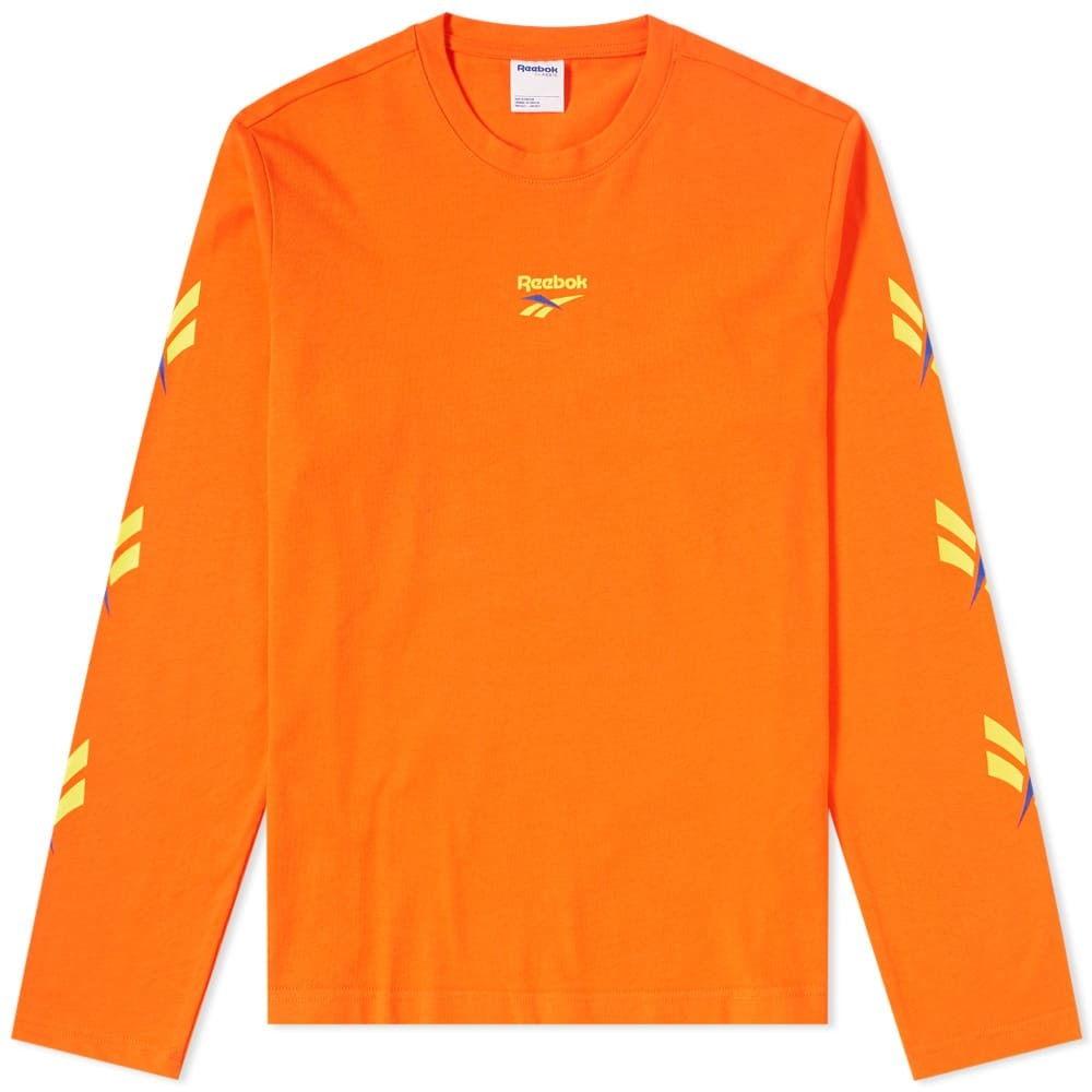 Photo: Reebok Long Sleeve LF Vector Tee Orange