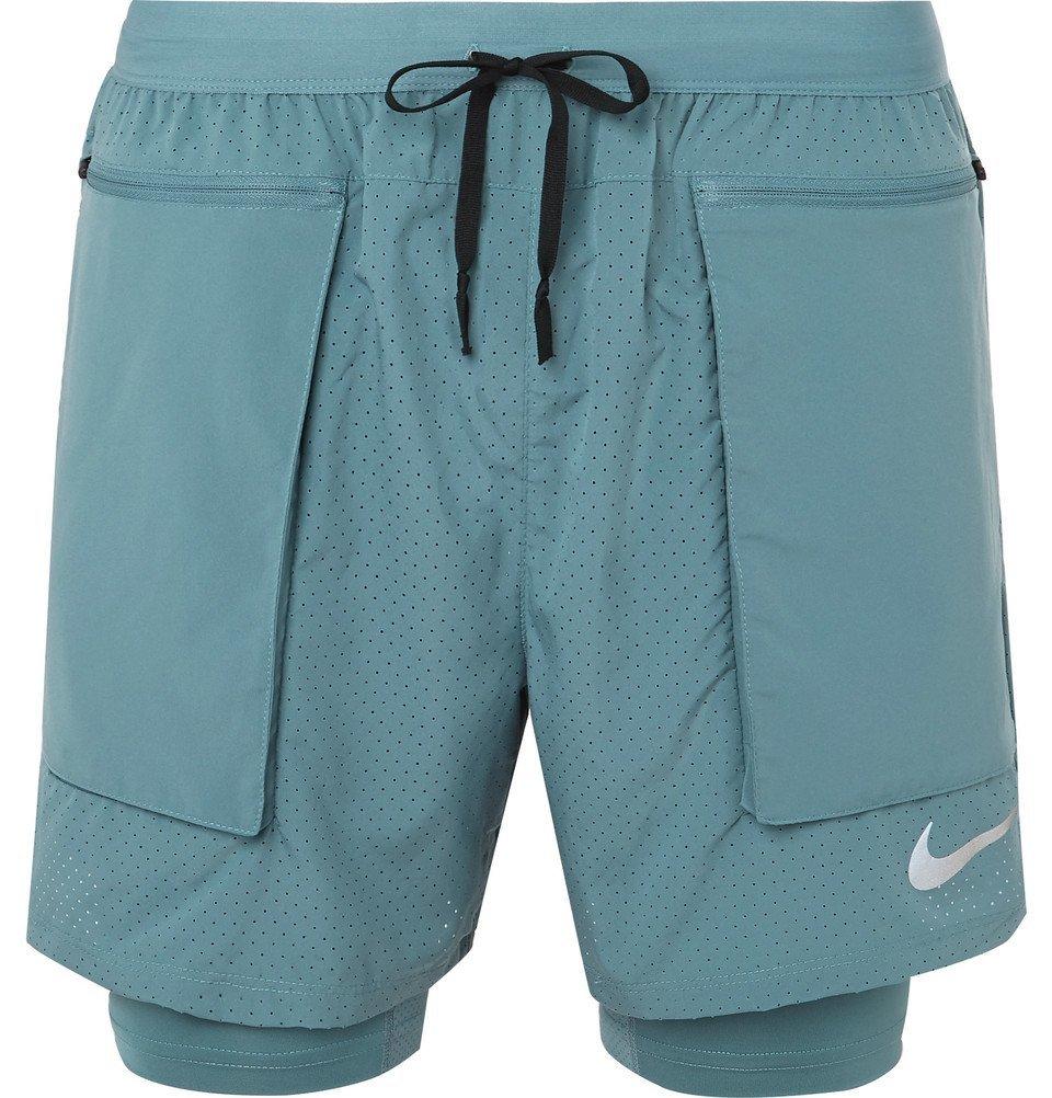 Nike Running - Flex Stride 2-In-1 Dri-FIT Mesh Shorts - Men - Blue
