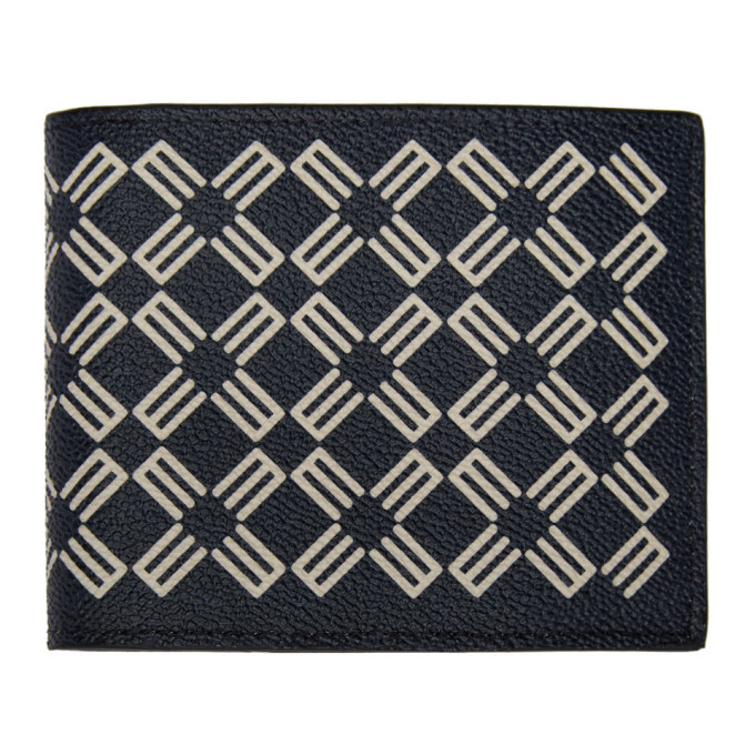 Photo: Etro Navy Logo Pattern Wallet