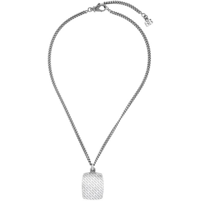 Photo: Balenciaga Silver Precious Logo Necklace