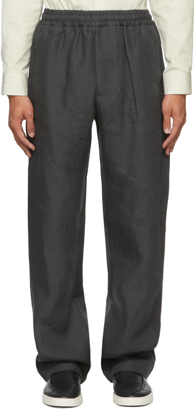 Photo: Margaret Howell Grey Linen Slant Pocket Trousers