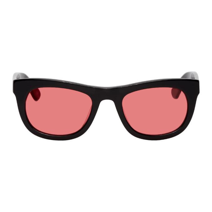 Photo: Han Kjobenhavn Black and Red Cubicle Sunglasses