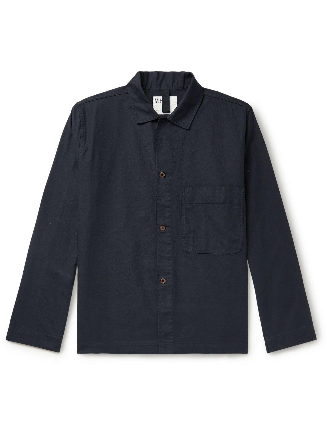 Photo: Margaret Howell - MHL Cotton-Twill Overshirt - Black