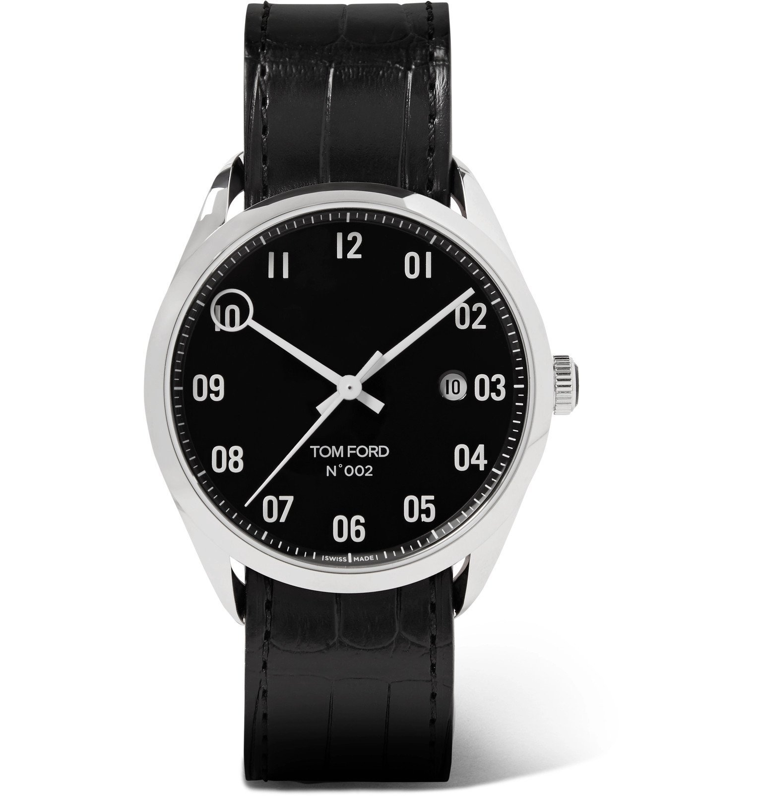 Tom Ford Timepieces - 002 40mm Stainless Steel and Alligator Watch - Black