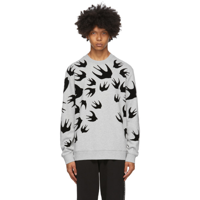 Photo: McQ Alexander McQueen Grey Swallows Sweatshirt