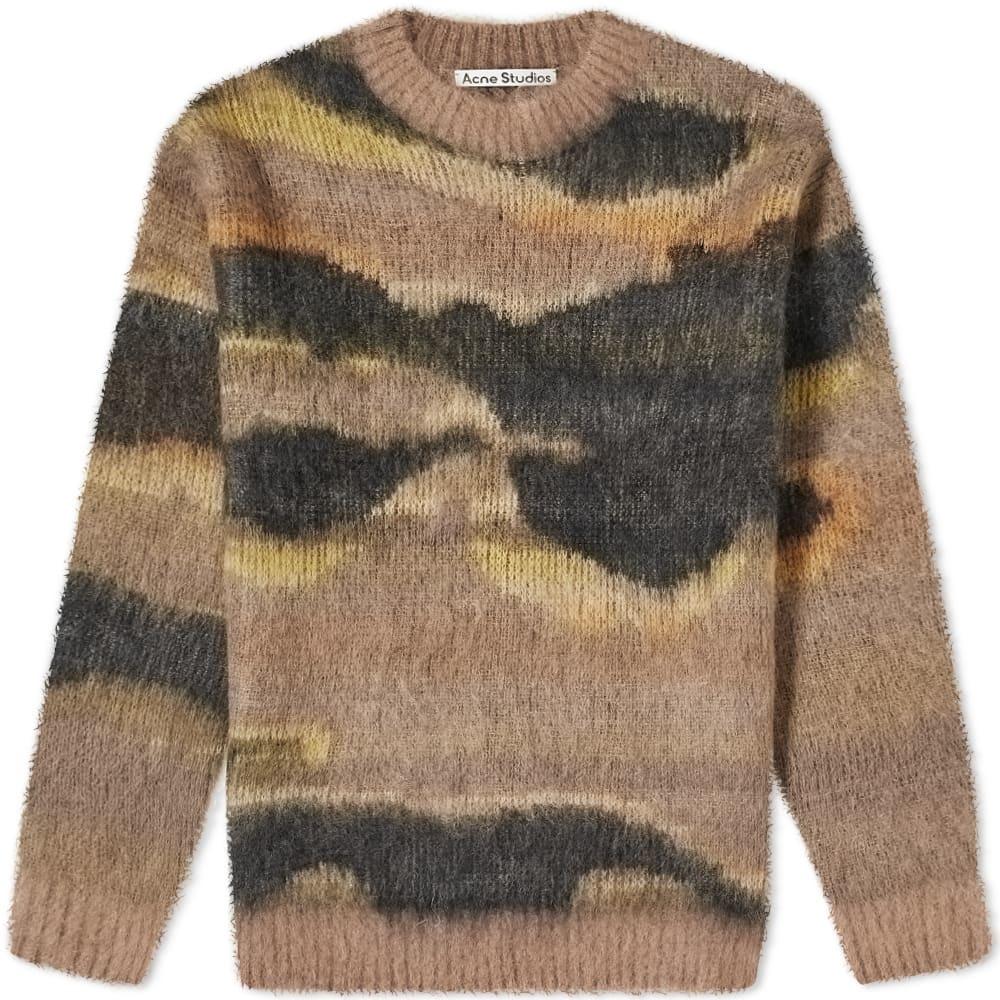 Photo: Acne Studios Klinac Fur Print Knit