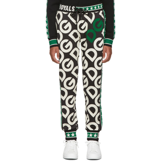 Photo: Dolce and Gabbana Black DG Royals Lounge Pants
