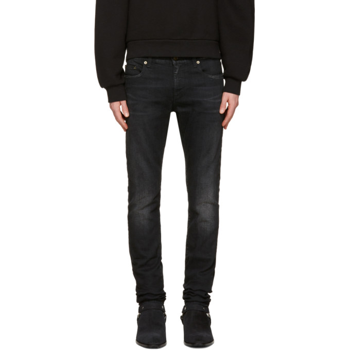 Photo: Saint Laurent Black Low Waisted Skinny Jeans
