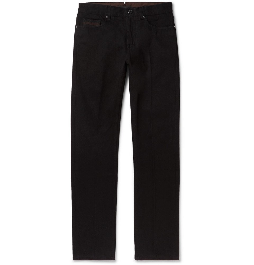 Photo: Ermenegildo Zegna - Slim-Fit Denim Jeans - Black