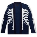 KAPITAL - Kakashi Printed Cotton-Jersey Cardigan - Blue