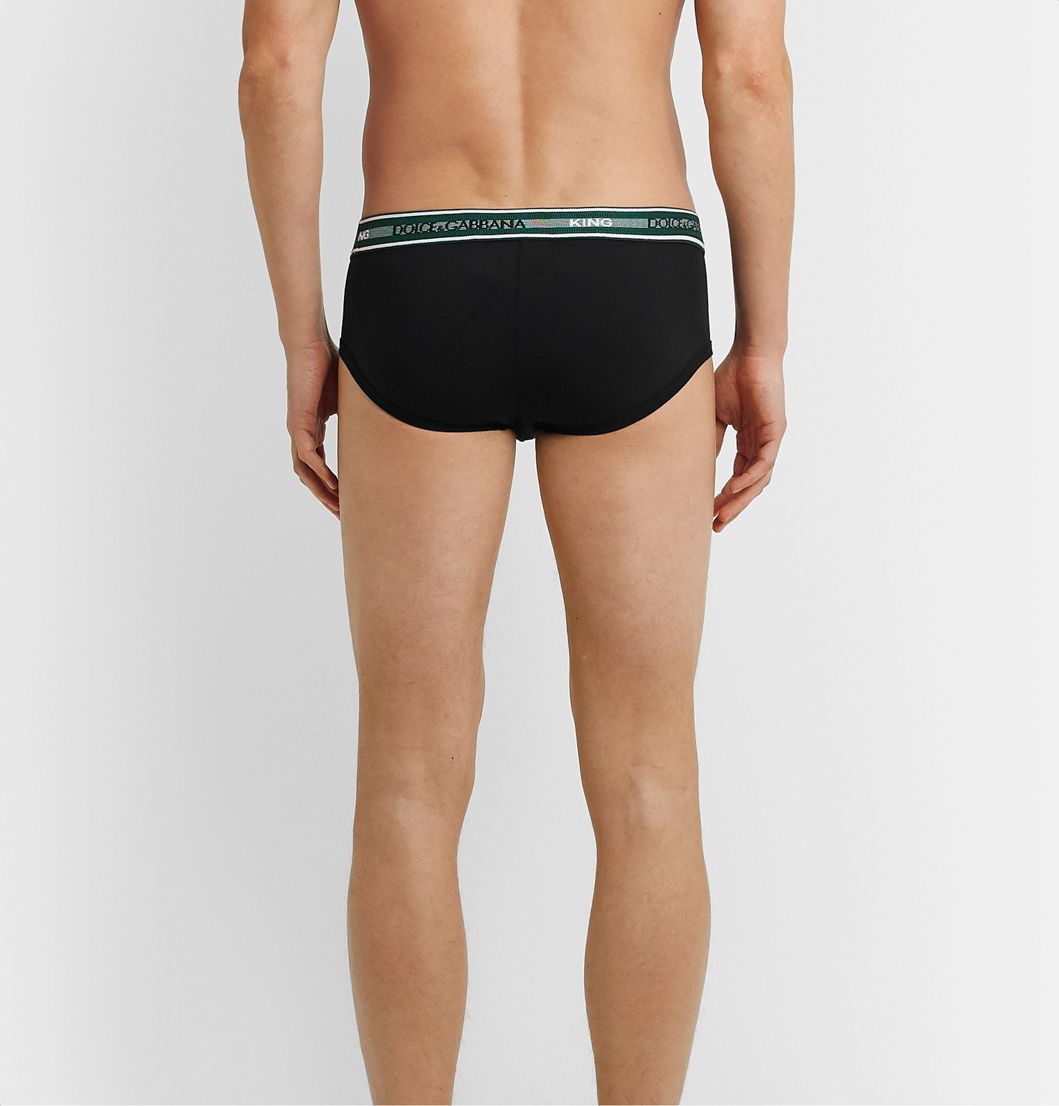 Dolce & Gabbana - Stretch-Cotton Jersey Briefs - Black