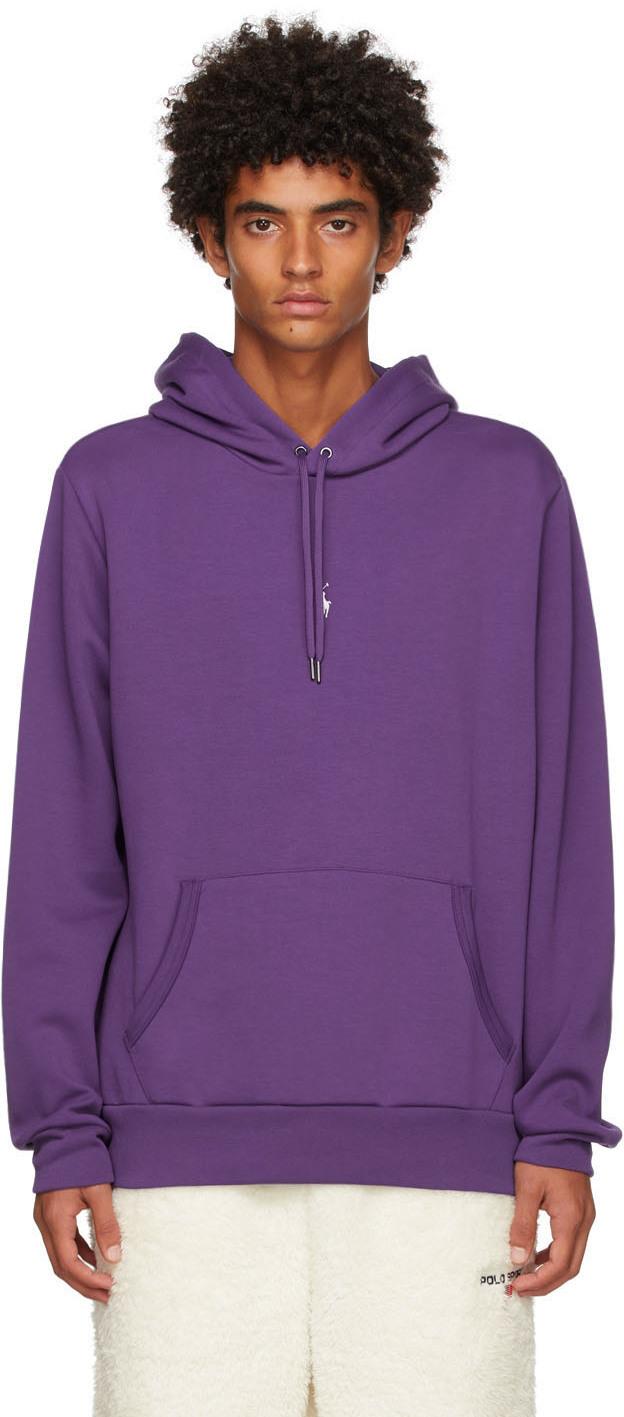 Photo: Polo Ralph Lauren Purple Double Knit Hoodie