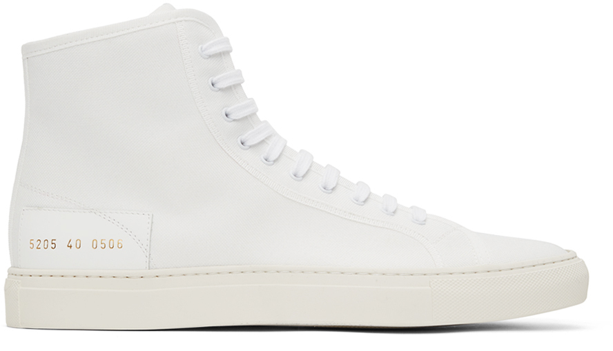 Photo: Common Projects White Tournament High Sneakers