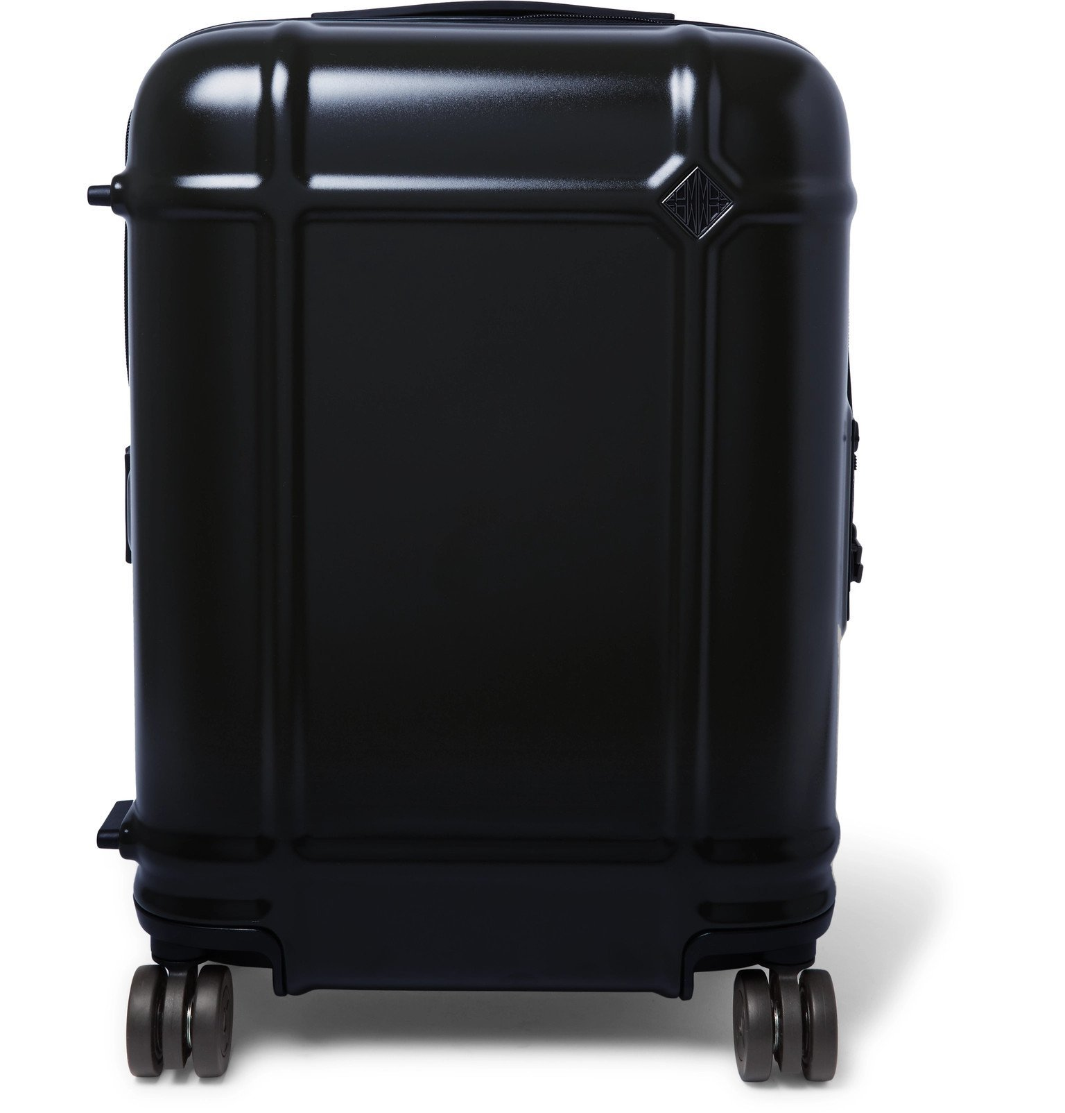 Photo: Fabbrica Pelletterie Milano - Globe Spinner 55cm Leather-Trimmed Polycarbonate Carry-On Suitcase - Blue