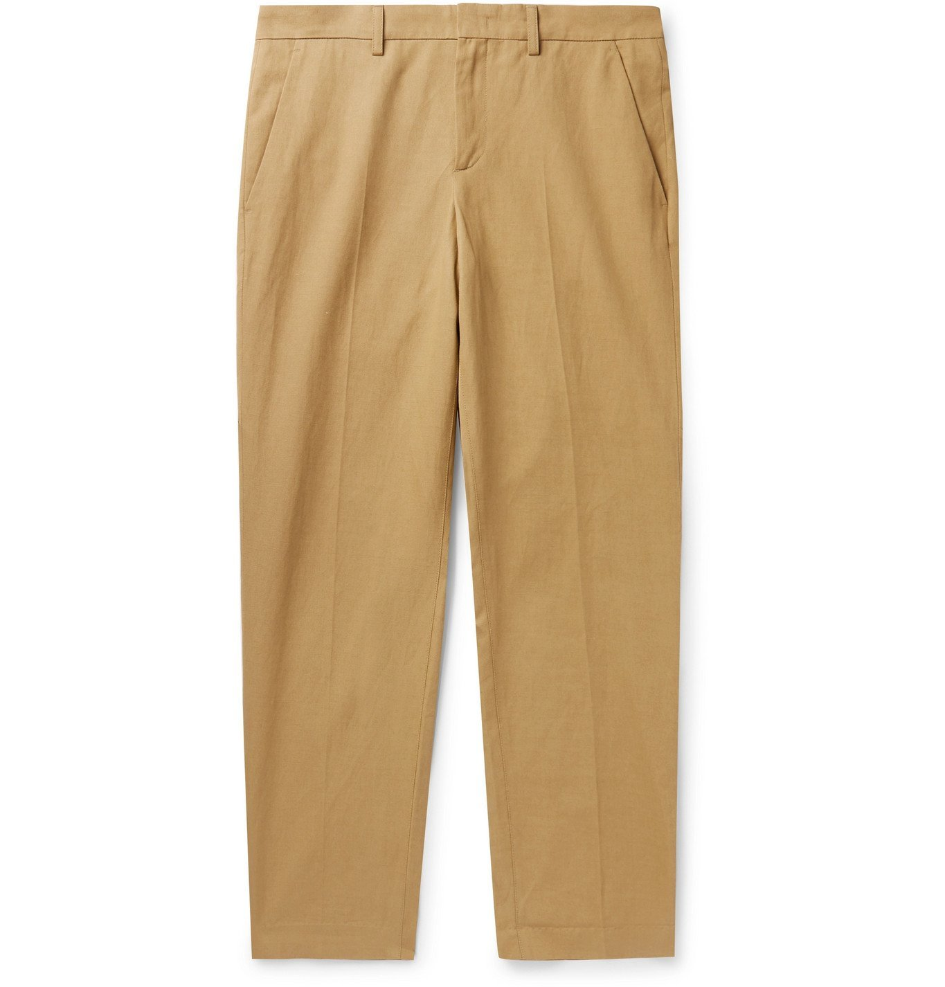 Photo: A.P.C. - Raphael Slim-Fit Cotton and Linen-Blend Twill Chinos - Neutrals