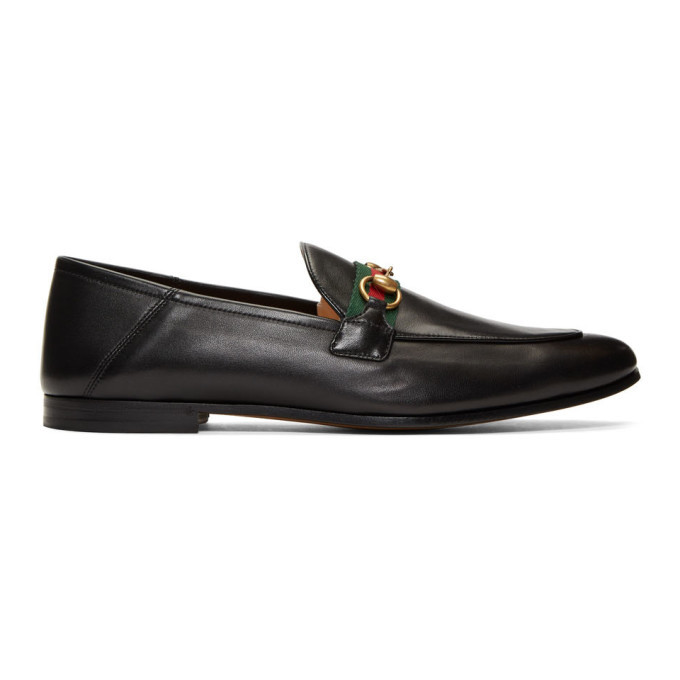 Photo: Gucci Black Web Horsebit Loafers