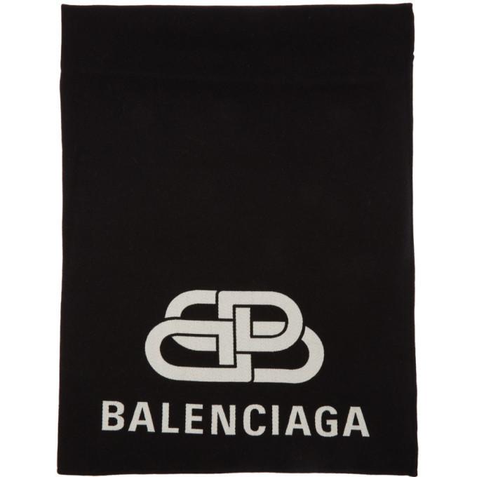 Photo: Balenciaga Black BB Blanket Scarf