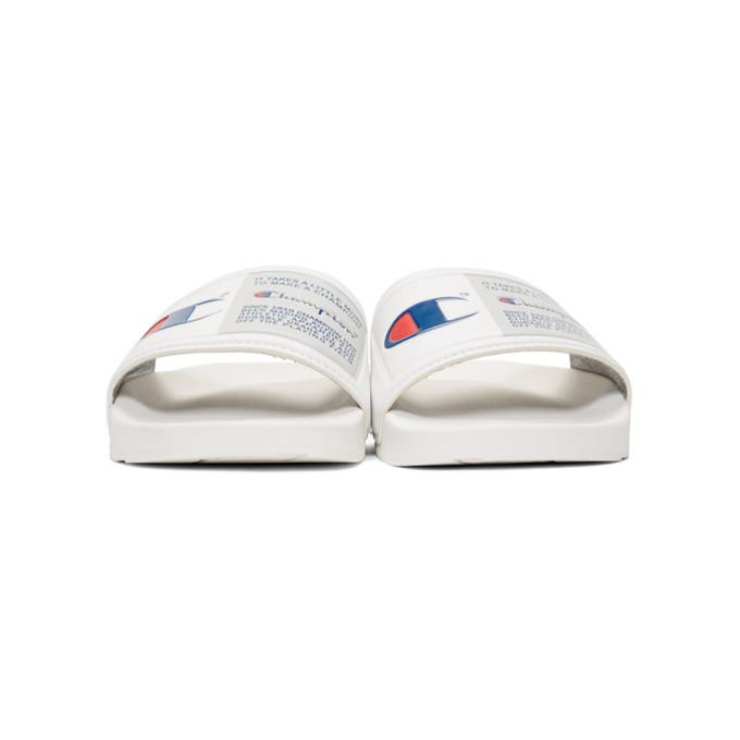 48e1767cb Champion Reverse Weave White IPO Jock Sandals Champion Reverse Weave