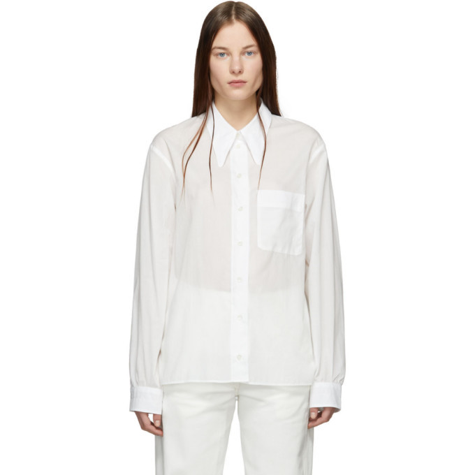 Photo: Lemaire White Straight Collar Shirt
