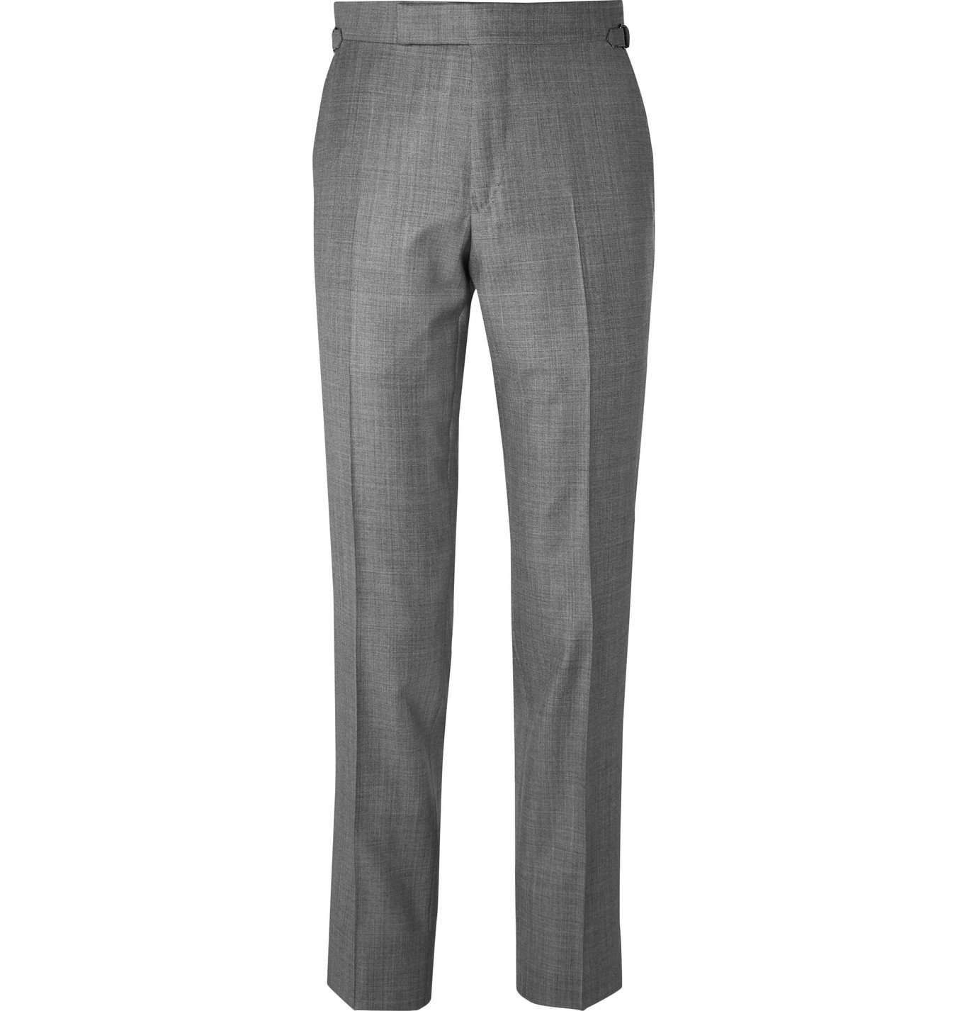 Photo: TOM FORD - Slim-Fit Super 110s Sharkskin Wool Suit Trousers - Gray