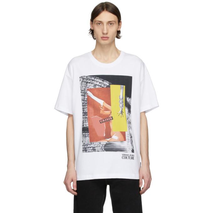 Versace Jeans Couture White Rosa Burgess Edition Crisis Print T-Shirt