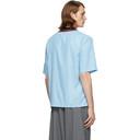 Martine Rose Blue Rib Collar Short Sleeve Shirt