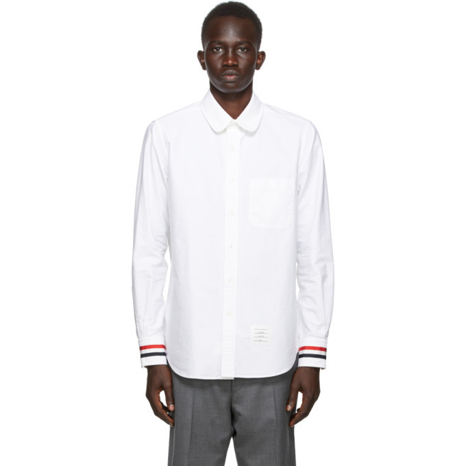 Photo: Thom Browne SSENSE Exclusive White Oxford Straight Fit Shirt