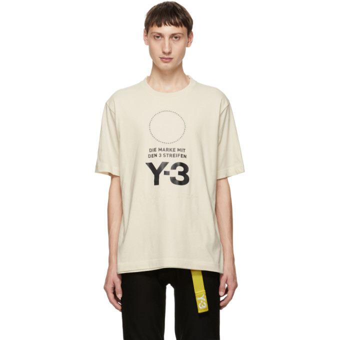 Y-3 White Stacked Logo T-Shirt