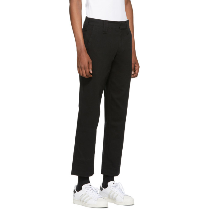 032c Black Straight Fit Trousers