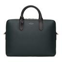 Smythson Green Leather Slim Panama Briefcase