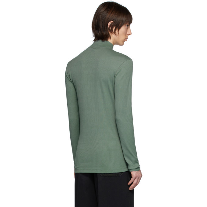 Lemaire Green Rib Knit Turtleneck
