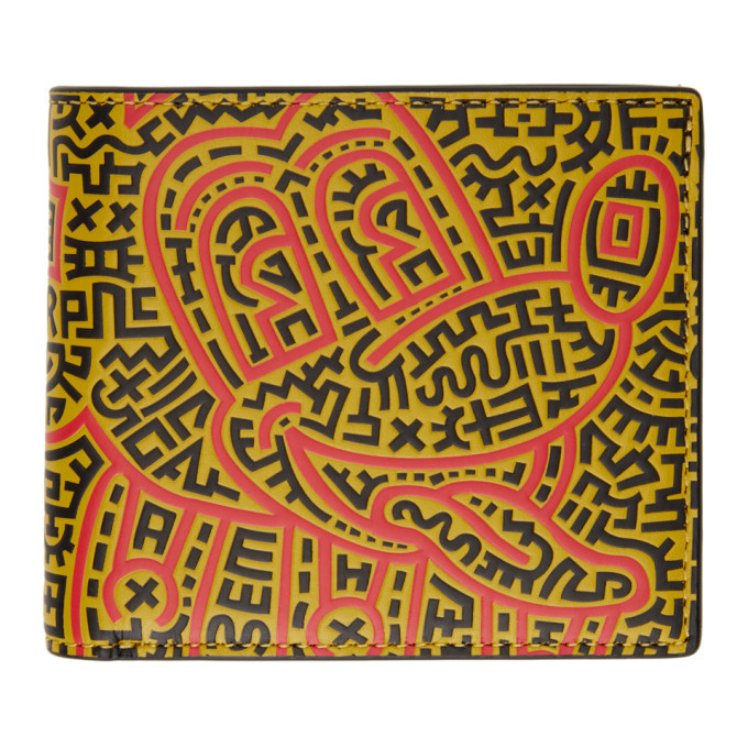 Photo: Coach 1941 Black Keith Haring Edition Mickey Double Billfold Wallet