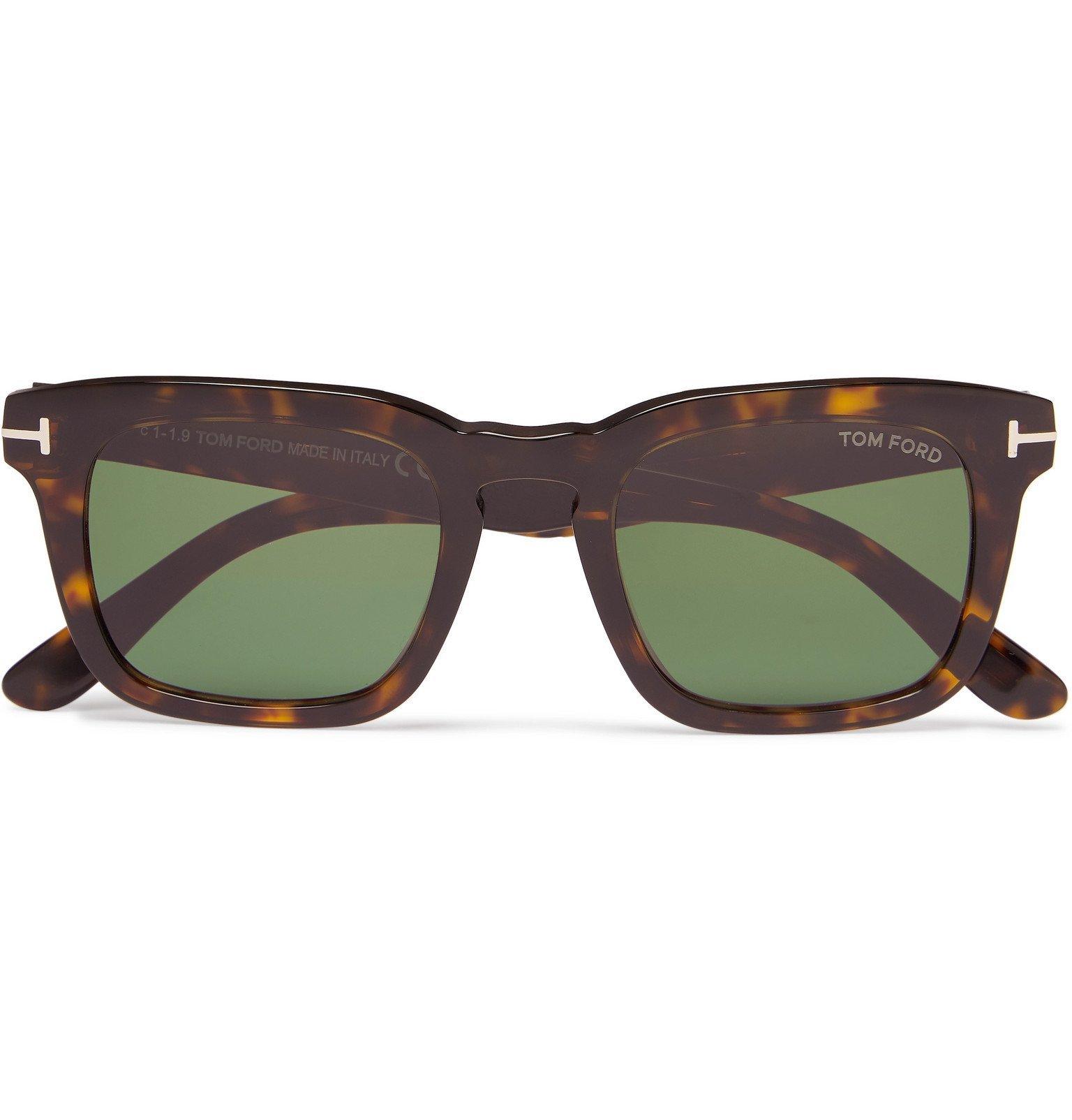 Photo: TOM FORD - Square-Frame Tortoiseshell Acetate Polarised Sunglasses - Brown