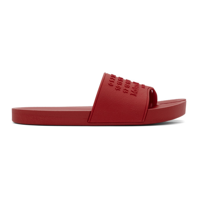 Photo: Maison Margiela Red Tabi Slides