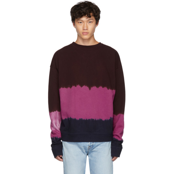 Photo: The Elder Statesman Multicolor Dip Dyed Fleece Sweatshirt