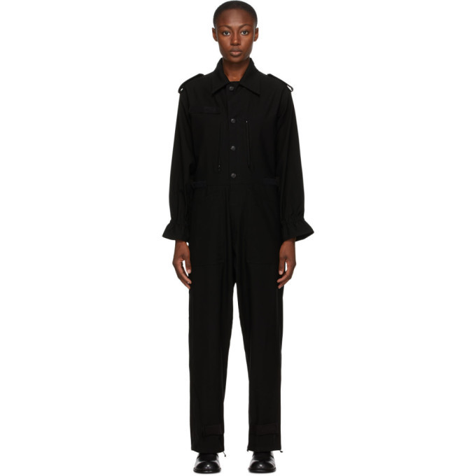 Photo: Regulation Yohji Yamamoto Black Wool R-Overall Jumpsuit