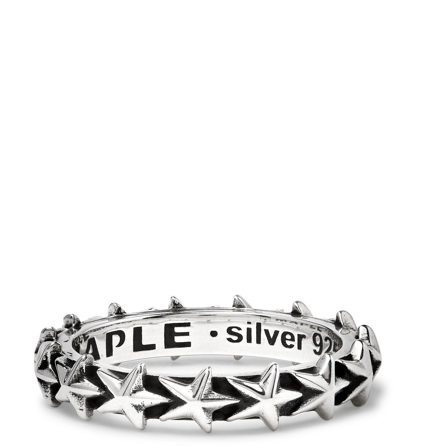 Photo: MAPLE - Burnished-Silver Ring - Silver