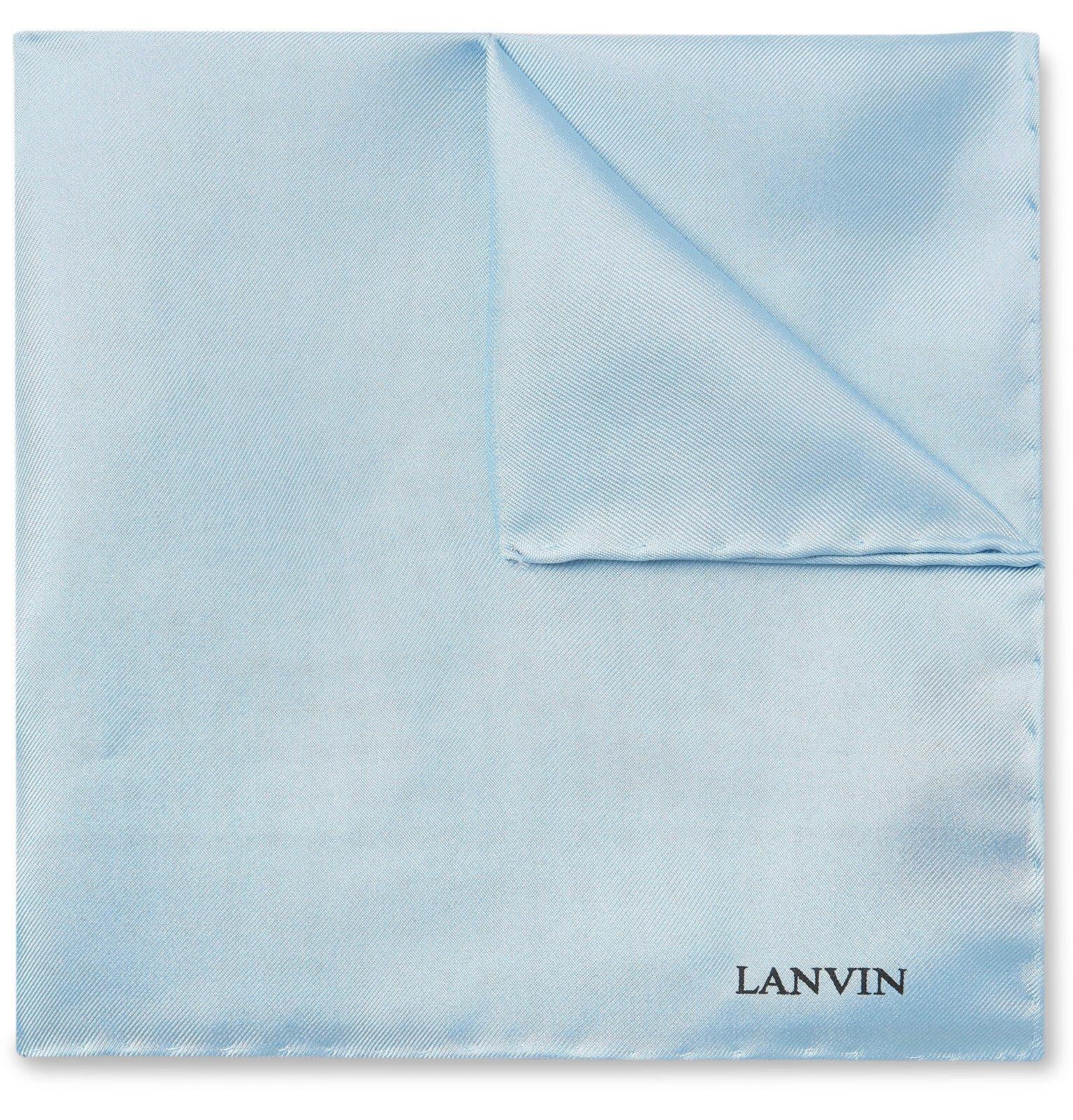 Photo: Lanvin - Silk-Twill Pocket Square - Blue