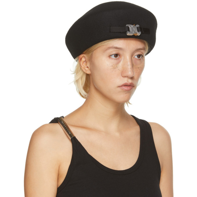 1017 ALYX 9SM SSENSE Exclusive Black Wool Bardot Beret