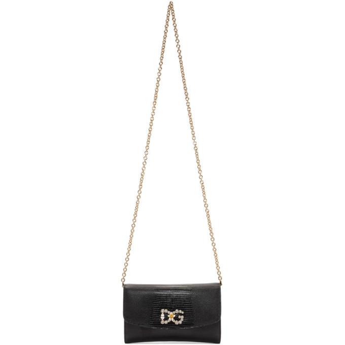 Photo: Dolce and Gabbana Black Iguana DG Mini Bag