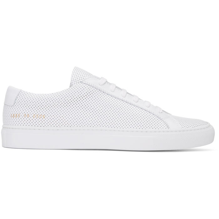 Common Projects White Perforated Original Achilles Low Sneakers