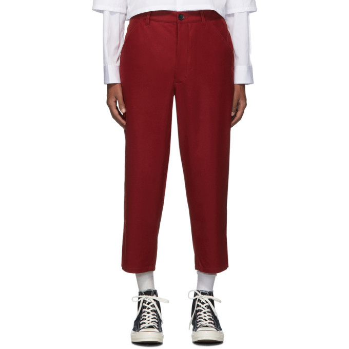 Photo: Comme des Garcons Shirt Red Extra Fine Wool Trousers