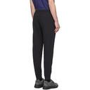 C.P. Company Black Diagonal Fleece Lounge Pants