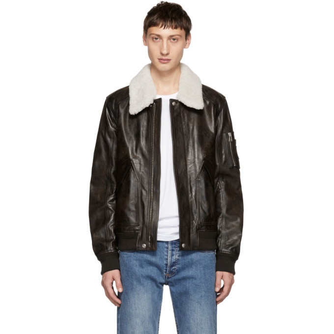 Photo: Belstaff Brown Arne Leather Jacket