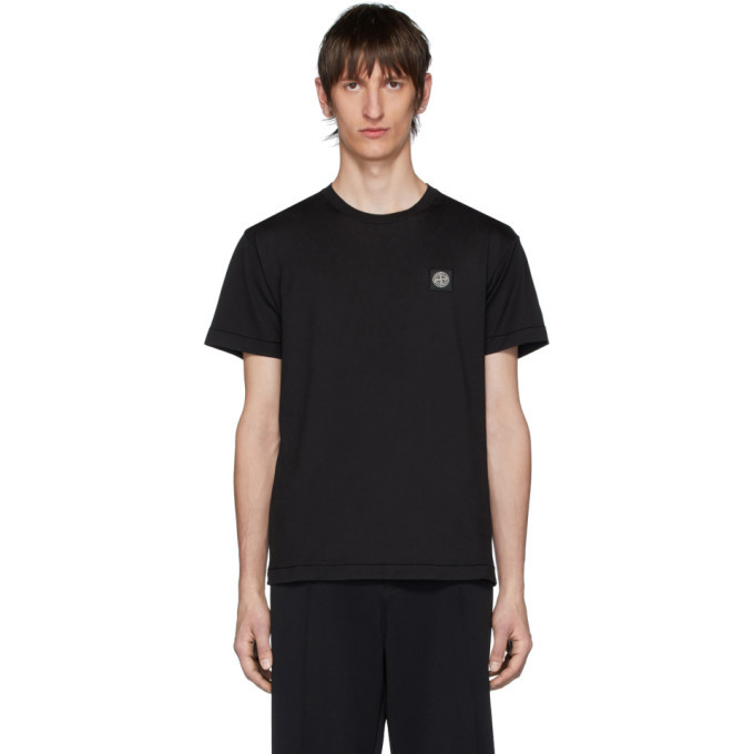 Photo: Stone Island Black Logo Patch T-Shirt