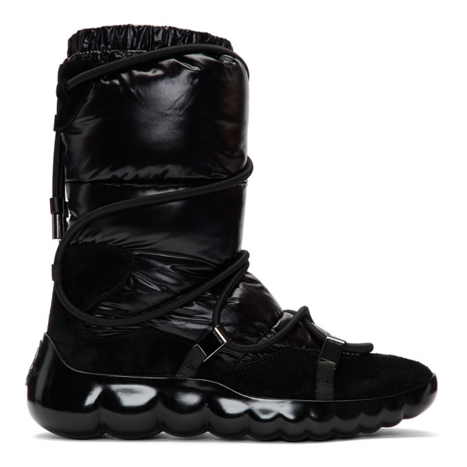 Photo: Moncler Black Cora Strappy Puffer Boots